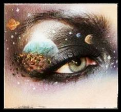 """Such cool """"planetary"""" make up!"""