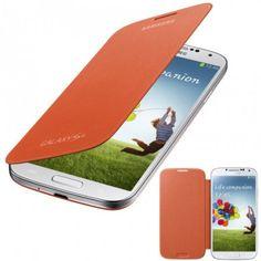 Funda Samsung Galaxy S4 Flip Cover Original - Naranja