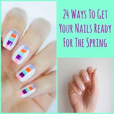And these are some manicures for your nails you can adapt seamlessly for the Spring using the palette