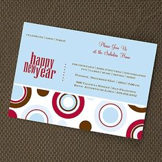 invitation happy new year item numberym4225bfc 11500 per 100 holiday party