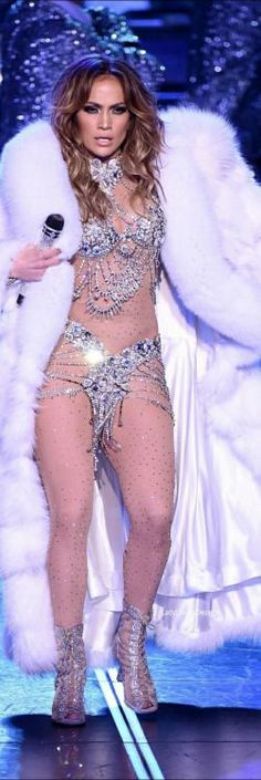 """Singer/actress Jennifer Lopez performs during the launch of her residency """"JENNIFER LOPEZ: ALL I HAVE"""" at The Axis at Planet Hollywood Resort & Casino on January 20, 2016 in Las Vegas, Nevada."""