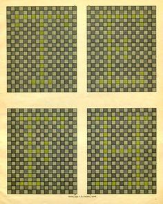 Blue, Yellow colour blindness chart, from Tafeln zur Bestimmung der Blau-Gelbblindheit