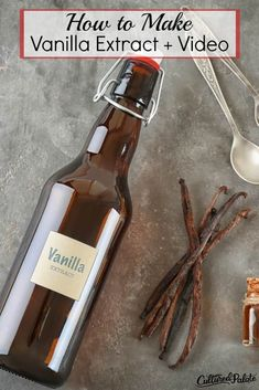 Learning how to make vanilla extract is easier than you think! Now you can have the taste of real vanilla extract with a homemade replacement! #myculturedpalate #vanilla #condiment #healthyreplacement