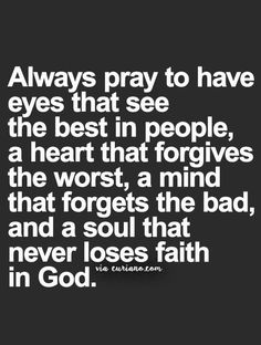 Always pray....