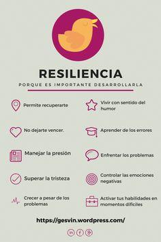 """Hola: Compartimos una infografía sobre """"Resiliencia y la Importancia de Desarrollarla"""". Un gran saludo.  Elaboración: El Blog de Gesvin  Enlaces de interés: Que es la Resiliencia y Como..."""