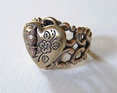 Steampunk OWL Locket RING Cute and Adorable H by chinookhugs