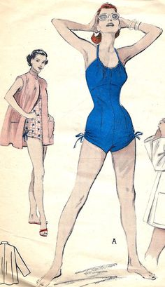 Vintage Butterick 6536 Misses Shirred One Piece by RomasMaison, $58.00