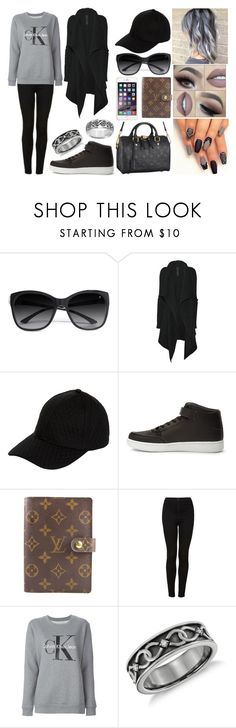 """""""Sonnie #2"""" by uhumhoney ❤ liked on Polyvore featuring GUESS by Marciano, Louis Vuitton, Rick Owens, New Look, Forever 21, CO, Topshop, Calvin Klein Jeans, Queen Bee and Cherish Always"""