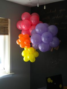 How to make your own balloon clusters at JunkinJunky.blogspot.com