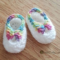 Crochet For Children: Quick Newborn Booties with Bow - Free Pattern