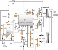 modified sine wave inverter circuit using ic 3525 with - 28 images - sine wave inverter circuit using ic pwm sinewave inverter circuit, inverter circuit diagram circuit and schematics, a simple inverter circuit, sinewave inverter c Electronics Mini Projects, Electronic Circuit Projects, Electrical Projects, Electronic Engineering, Diy Electronics, Triangle Wave, Electrical Circuit Diagram, Power Supply Circuit, Simple Circuit