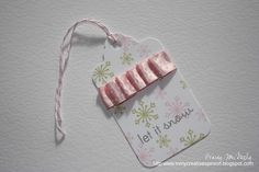 possibilities without the ribbon - Dies: Tag Sale 1 25 Days Of Christmas, Christmas Tag, Holiday Gift Tags, Card Making, Creative, Projects, How To Make, Snow, Gift Cards