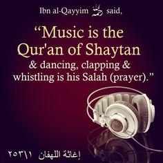 """Music is the tool of shaytan "" Imam Ali Quotes, Allah Quotes, Muslim Quotes, Religious Quotes, Words Quotes, Hindi Quotes, Life Quotes, Islam Muslim, Islam Quran"