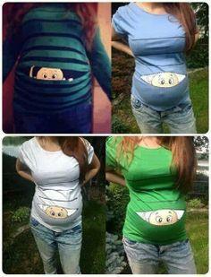 .If I ever get pregnant I'll totally buy this! fashion, pregnanc, jean jackets, t shirts, babi stuff, maternity shirts, new moms, having babies, kid