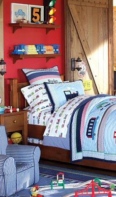 Train Bedding #kids #rooms #boys