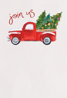 Customize, add text and photos. Print for free! Free Christmas Invitation Templates, Christmas Letter Template, Christmas Party Invitations, Christmas Printables, Christmas Crafts, Christmas Pajama Party, Christmas Red Truck, Island, Bossbabe