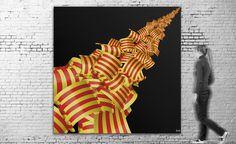 Exposición virtual / Título: Catalonia 2013 (serie Catalunya) / Medida original: 300 x 300 cm / Resolución: 120 p.p. / Formato de imagen: JPEG / Color estándar: CMYK / Peso digital: 264 Mb