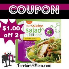 PRINT COUPONS for the new Lean Cuisine Salad Additions - Have you tried this yet? http://freebies4mom.com/2013/01/22/additions/