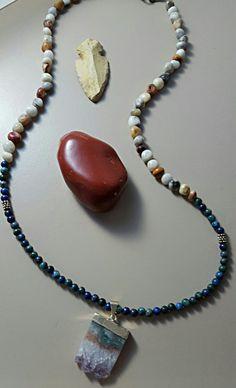 Sliced Amethyst Pendant Necklace
