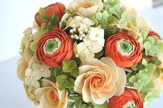 Ramo de novia. Bridal Bouquet Primavera rosa y Bouquet de por parsi
