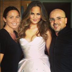 Behind the scenes with Chrissy Teigen at the 2014 MTV Movie Awards. Hair by Giannandrea.
