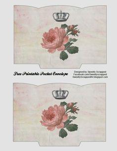 Free Printable Pocket Envelope by Sweetly Scrapped