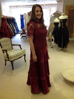 For our mother Mother of the Bride in Wine  Andrea's Fashions