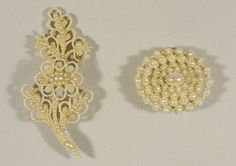 antique seed pearl jewelry, brooches