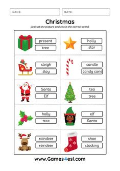 Download free printbable Christmas worksheers and use them in class today! :)
