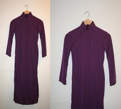 Vintage 1950s Dress / Purple Asian by honeysuckleandhearts on Etsy, $98.00