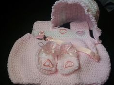 Baby Girl Summer Layette Set by LEACreations on Etsy, $35.00