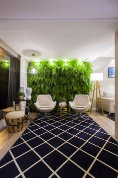Ambiente  Lounge de Leitura do Showroom de Balneário Camboriú criado pelos arquitetos Diego Viana e Rodrigo Azeredo da Romano Arquitetos.