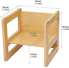 Obique 3 in 1 Children's Multifunctional Montessori Furniture Set of One Small Chair or Table and One Large Chair or Table Beech Wood, Natural Multifunctional Furniture, Modular Furniture, Baby Furniture, Furniture Plans, Furniture Stores, Cheap Furniture, Furniture Design, Modern Table And Chairs, Blue Dining Room Chairs