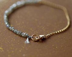 Tanzanite oro abalorios pulsera pulseras de por ShopClementine