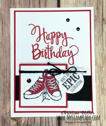 Red Shoes News | TheseAreMyStamps Teenage Boy Birthday, Teenager Birthday, Birthday Cards For Boys, 16th Birthday Gifts, Male Birthday, Girlfriend Birthday, Boy Cards, Kids Cards, Stampinup