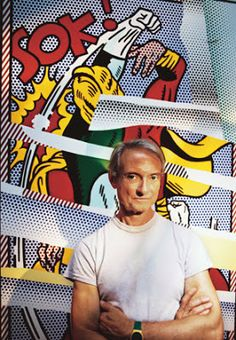 Roy Lichtenstein – Along with Andy Warhol, the most famous figure of the American Pop-Art. His works are often related to the style of the comics, though Lichtenstein rejected that idea. Roy Lichtenstein Pop Art, Jasper Johns, Robert Rauschenberg, Art Pop, Cultura Pop, Andy Warhol, Wassily Kandinsky, Richard Hamilton, James Rosenquist