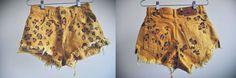 DIY Leopard Print Cut-off Shorts