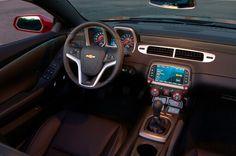 Inside of a 2015 Camaro