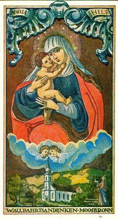 Image pieuse - La Vierge et l'enfant