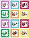 Cute Owl Themed Calendar Set product from Walkers-Creation on TeachersNotebook.com