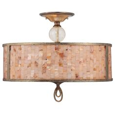 Great light, especially for the coast!  Savoy House Acacia Semi-Flush Mount