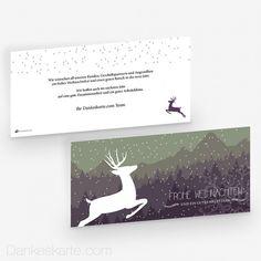 Weihnachtskarte Schneegestöber 21 x 10 cm - Dankeskarte.com Movie Posters, Thanks Card, Snow, Xmas Cards, Film Poster, Billboard, Film Posters
