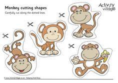 Monkey cutting shapes