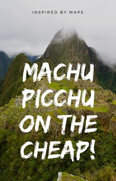 An Honest Guide to Machu Picchu by Car / Bus / Mini-Van / Shuttle on the Cheap! Don't go with a expensive outfit, save money for more Peru Travel! Photography, guide, hike, location, tickets, price, history, architecture, altitude / elevation and more! Machu Picchu travel guide. Top things to do in Peru bucket list. South America must see ☆☆#Inspiredbymaps ☆☆