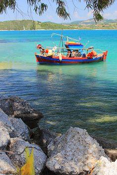 Fishing in Corfu, Kerkyra-Greece Corfu, Fishing Boats, Sailing, Greece, Colors, Candle, Greece Country, Colour, Color