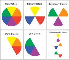 Free printable simple & easy-to-understand color wheel for elementary school students