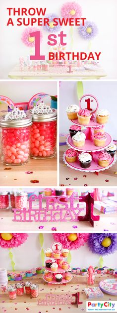 First birthdays can be a very special occasion and if you're struggling for ideas then look no further than Party City. PartyCity.com is home to all kinds of fun DIY ideas on how to give your little one a day to remember together with all the supplies and essentials needed to make those ideas a reality. From adorable napkins to super sweet candy jars, you'll find everything you need at PartyCity.com.