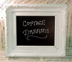 French Cottage Chic Chalkboard