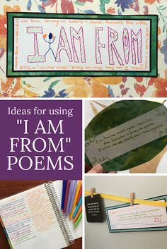 "You're going to love using ""I am from"" poems in your English class. They're easy for students to write, and yet often lead to beautiful places. Try this poetry workshop for your next poetry unit, or as a start-of-year icebreaker. Paragraph Writing, Persuasive Writing, Writing Rubrics, Opinion Writing, Poetry Books For Kids, Poetry Unit, Creative Teaching, Creative Writing, I Am Poem"