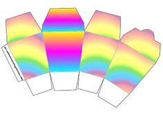 Cores do Arco-Íris – Kit Completo com molduras para convites, rótulos para guloseimas, lembrancinhas e imagens! |Fazendo a Nossa Festa